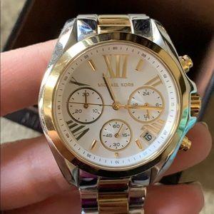 3cde6bae51a9 MICHAEL Michael Kors Accessories - Michael Kors MK5974 Gold Dial Two Tone  Steel Watch